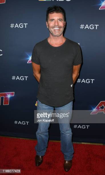 Simon Cowell attends America's Got Talent Season 14 Live Show Red Carpet at Dolby Theatre on August 20 2019 in Hollywood California