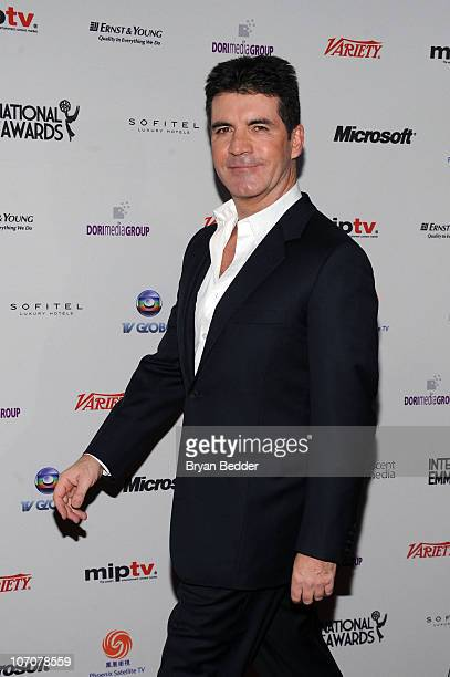 Simon Cowell attends the 38th International Emmy Awards at the New York Hilton and Towers on November 22 2010 in New York City