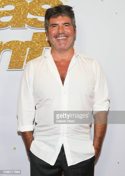 Simon Cowell attends the 'America's Got Talent' Season 13 Finale Live Show red carpet at Dolby Theatre on September 19 2018 in Hollywood California