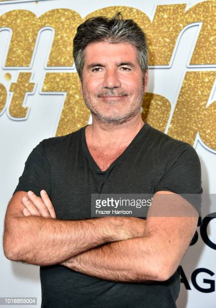 Simon Cowell attends the America's Got Talent Season 13 Live Show at Dolby Theatre on August 14 2018 in Hollywood California