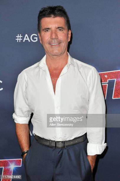 Simon Cowell attends the America's Got Talent Season 14 Finale red carpet at Dolby Theatre on September 18 2019 in Hollywood California