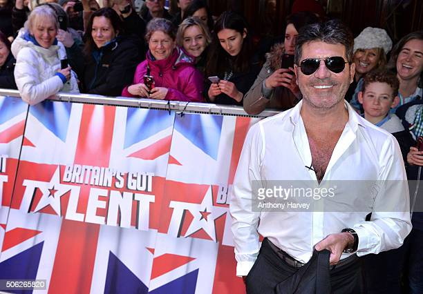 Simon Cowell attends the Britain's Got Talent Auditions on January 22, 2016 in London, England.
