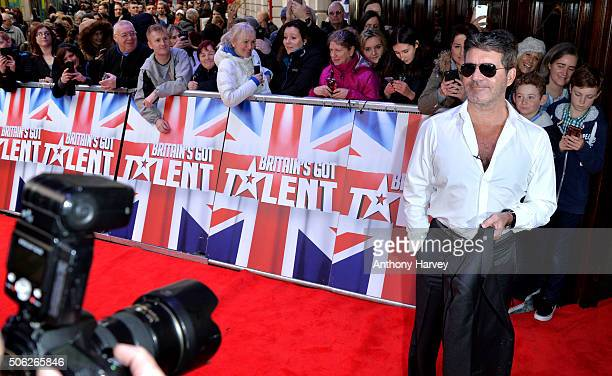 Simon Cowell attends the Britain's Got Talent Auditions on January 22 2016 in London England