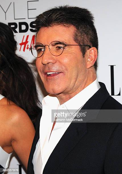 Simon Cowell attends the Elle Style Awards 2015 at Sky Garden @ The Walkie Talkie Tower on February 24 2015 in London England