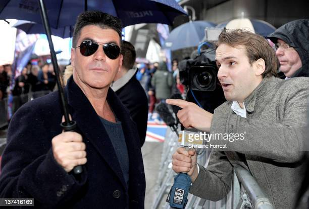 Simon Cowell attends the first day of auditions for Britain's Got Talent at The Lowry on January 20 2012 in Manchester England