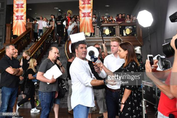 Simon Cowell attends the first day of auditions for the X Factor at The Titanic Hotel on June 20 2017 in Liverpool England