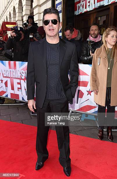 Simon Cowell attends the London auditions for Britain's Got Talent at Dominion Theatre on February 11, 2015 in London, England.