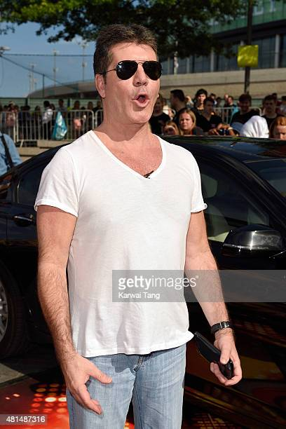 Simon Cowell attends the London auditions of The X Factor at SSE Arena on July 21 2015 in London England