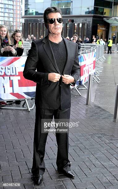 Simon Cowell attends the Manchester auditions for Britain's Got Talent at The Lowry on January 29 2015 in Manchester England