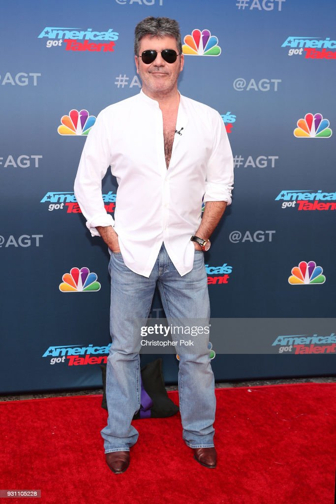 Simon Cowell attends the red carpet kickoff for 'America's Got Talent' season 13 at Pasadena Civic Auditorium on March 12, 2018 in Pasadena, California.