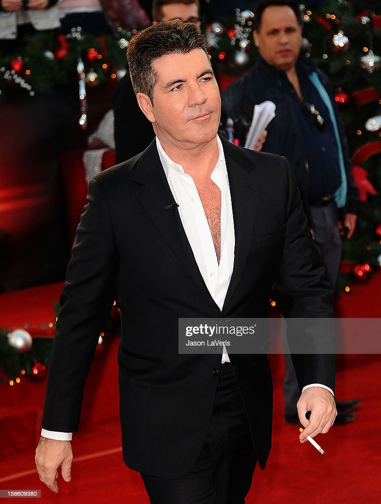 Simon Cowell attends the season finale of Fox's 'The X Factor' at CBS Television City on December 20, 2012 in Los Angeles, California.