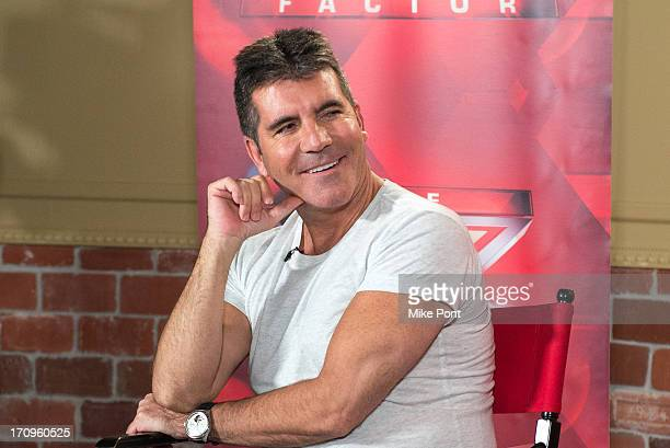 """Simon Cowell attends """"The X Factor"""" Judges press conference at Nassau Veterans Memorial Coliseum on June 20, 2013 in Uniondale, New York."""