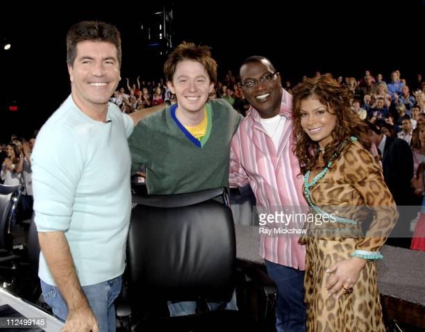 Simon Cowell Clay Aiken Randy Jackson and Paula Abdul