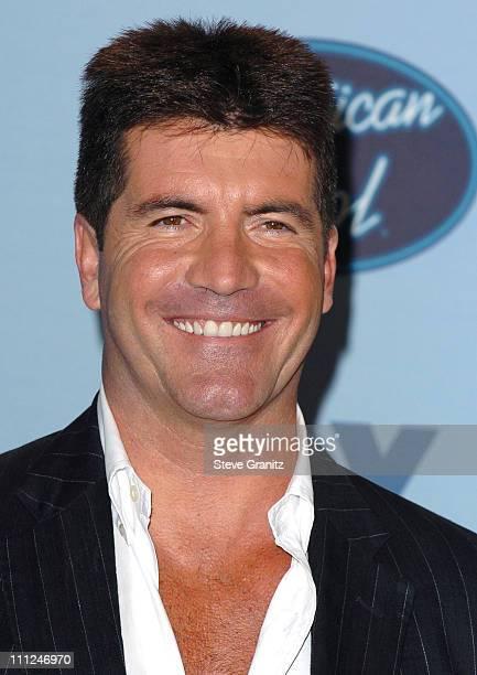 Simon Cowell during 'American Idol' Season 4 Finale Press Room at Kodak Theatre in Hollywood California United States
