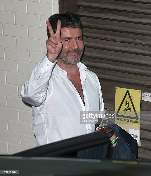 Simon Cowell is seen leaving the Fountain Studios after filming X Factor on November 13 2016 in London England