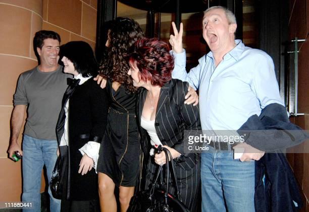 Simon Cowell, Kelly Osbourne, Terri Seymour, Sharon Osbourne and Louis Walsh