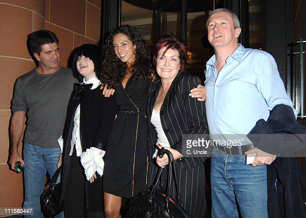 Simon Cowell Kelly Osbourne Terri Seymour Sharon Osbourne and Louis Walsh