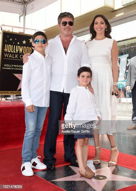 Simon Cowell Lauren Silverman Eric Cowell and Adam Silverman attend the ceremony honoring Simon Cowell with star on the Hollywood Walk of Fame on...