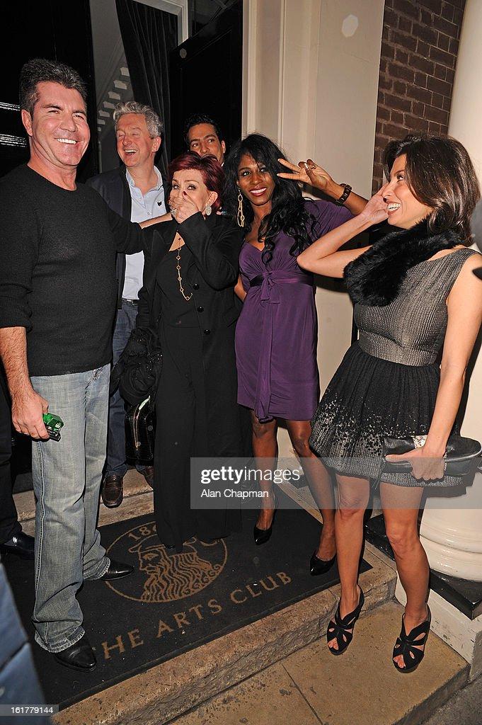 Simon Cowell, Louis Walsh, Mezhgan Hussainy And Sharon Osbourne Sightings - February 15, 2013