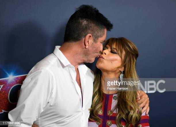 Simon Cowell Paula Abdul attend America's Got Talent Season 14 Finale Red Carpet at Dolby Theatre on September 18 2019 in Hollywood California