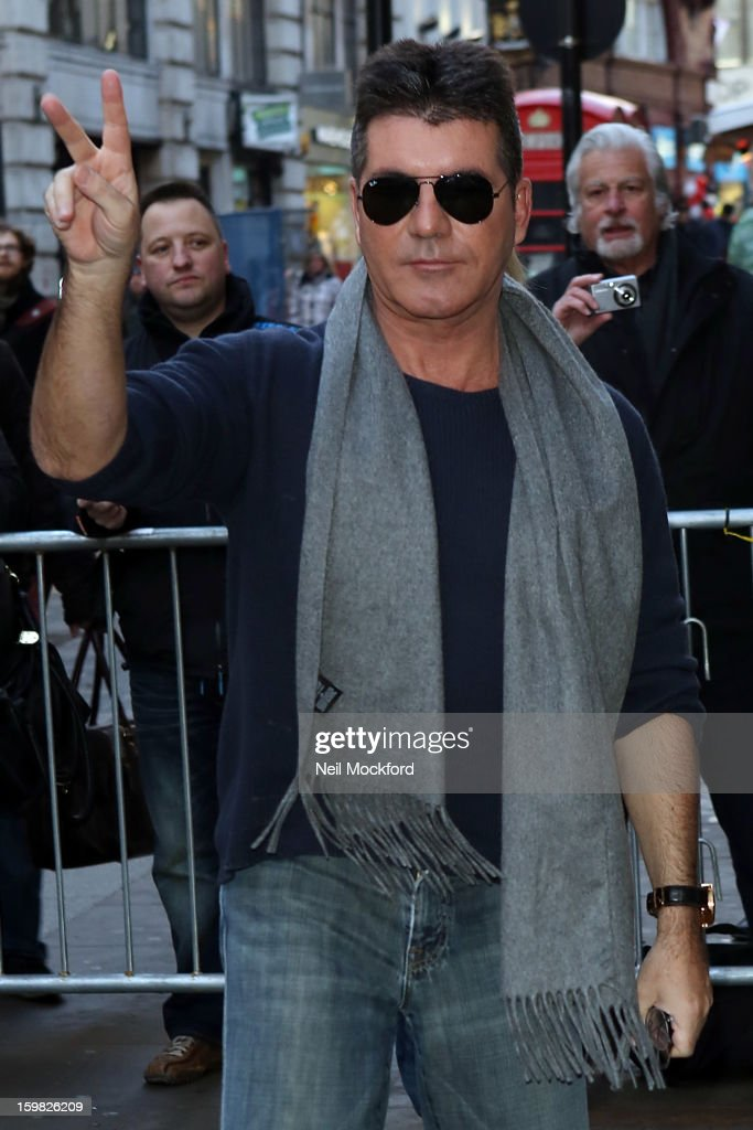 Simon Cowell seen arriving for the 'Britain's Got Talent' auditions at the London Palladium on January 21, 2013 in London, England.
