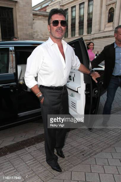 Simon Cowell seen attending Syco summer party at Victoria and Albert Museum on July 04 2019 in London England