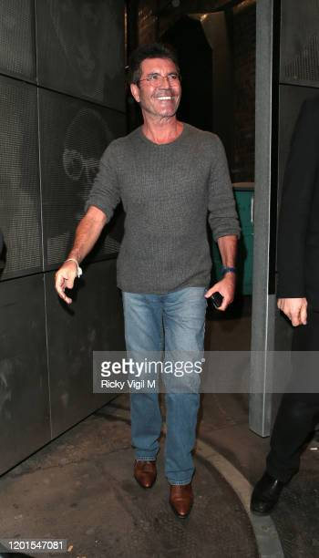 """Simon Cowell seen leaving """"Britain's Got Talent"""" auditions at Palladium Theatre on January 23, 2020 in London, England."""