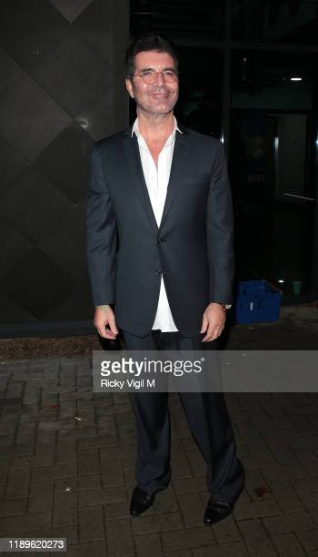 Simon Cowell seen leaving LH2 studios after Celebrity X Factor on November 23, 2019 in London, England.