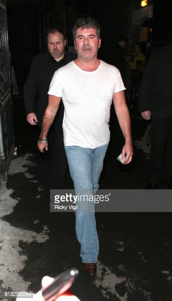 Simon Cowell seen leaving London Palladium after Britain's Got Talent auditions on February 1 2018 in London England