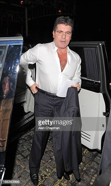 Simon Cowell sighting arriving at the My Beautiful Ball fundraiser at the Landmark Hotel on April 11 2013 in London England