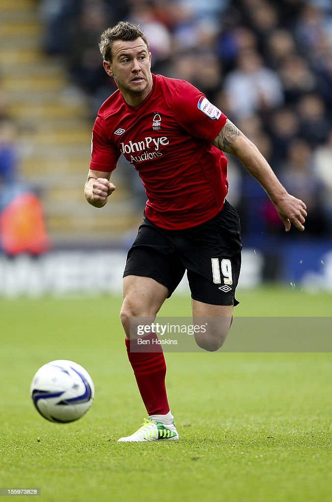 Simon Cox of Nottingham in action during the npower Championship match between Leicester City and Nottingham Forest at the King Power Stadium on November 10, 2012 in Leicester, England.