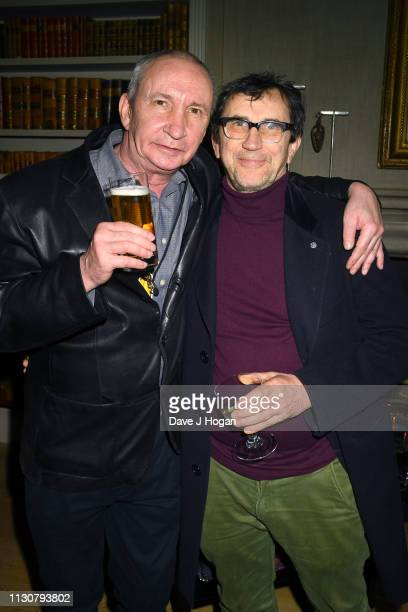 Simon Day and Phil Daniles attend the after show party following the opening night of Only Fools and Horses The Musical at Theatre Royal Haymarket on...