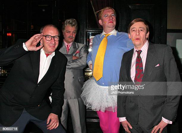 Simon Day, Charlie Higson, Mark Williams, Paul Whitehouse pose during the fast show performance at Hard Rock Cafe London on April 09, 2008 in London,...