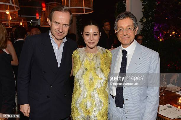 LR Simon de Pury Actress China Chow and MOCA LA Director Jeffrey Deitch attend the Aby Rosen Samantha Boardman dinner at The Dutch on December 6 2012...