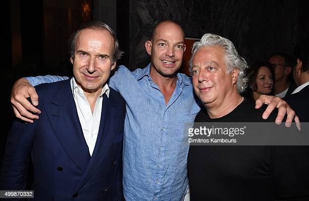 Simon de Pury Alexander Von Furstenberg Aby Rosen attend Aby Rosen and Samantha Boardman Host Their Annual Dinner at The Dutch W Hotel South Beach on...