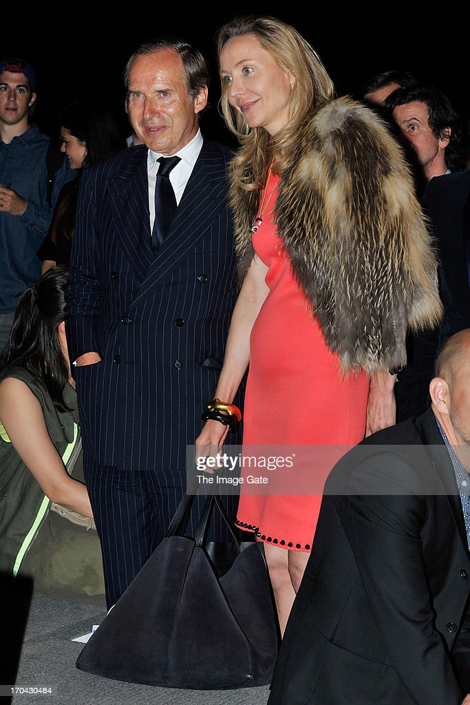 Simon de Pury and Michela de Pury attend Kanye West's listening session of its unreleased new album Yeezus during at Design Miami/ Basel on June 12, 2013 in Basel, Switzerland.