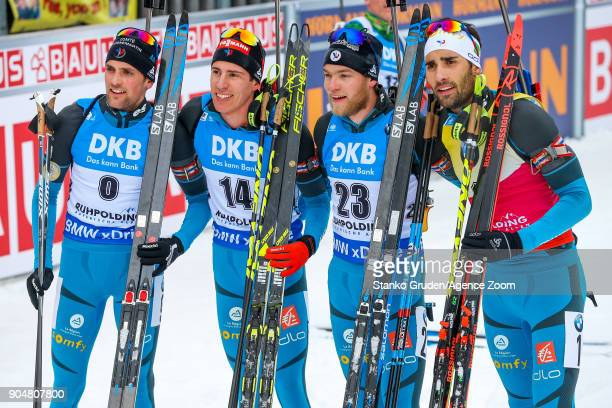 Simon Desthieux of France Quentin Fillon Maillet of France Antonin Guigonnat of France takes 3rd place Martin Fourcade of France takes 2nd place...