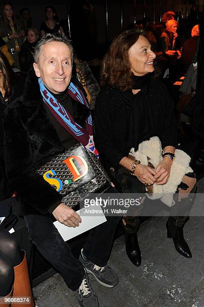 Simon Doonan and Diane Von Furstenberg attend the Alexander Wang Fall 2010 Fashion Show during Mercedes-Benz Fashion Week at Pier 94 on February 13,...