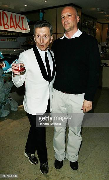 Simon Doonan and Gary Ventimiglia attend the Chris Huvane and Jason Schwartzman Host A Dinner for Scott Sternberg of Band of Outsiders at Barneys New...