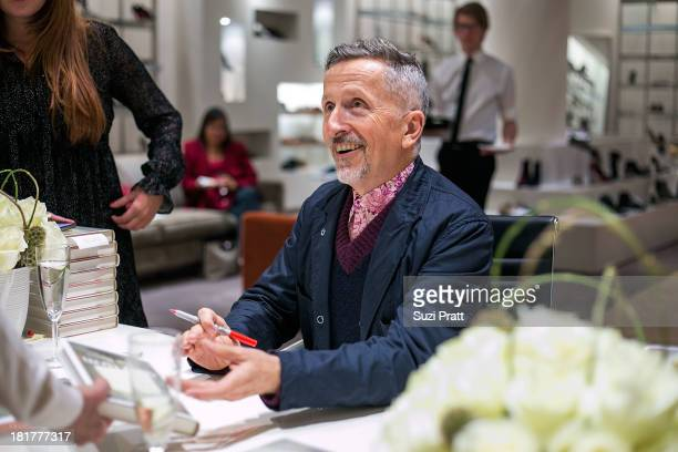 Simon Doonan signs copies of his latest memoir 'The Asylum A Collage Of Couture ReminiscencesAnd Hysteria' at Barneys New York on September 24 2013...