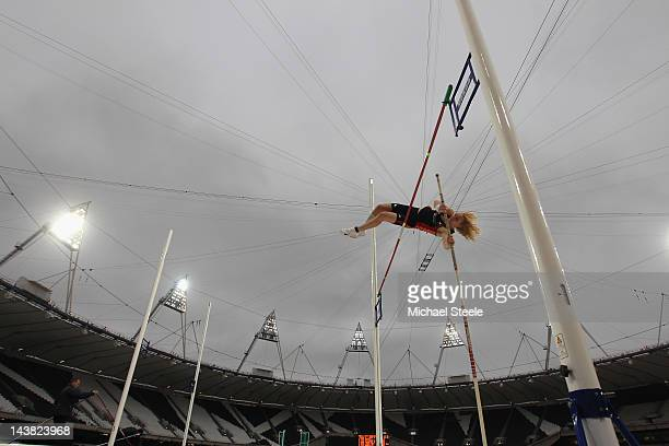 Simon Duncan of Southampton University competes in the men's pole vault qualification during day one of the BUCS VISA Athletics Championships 2012...