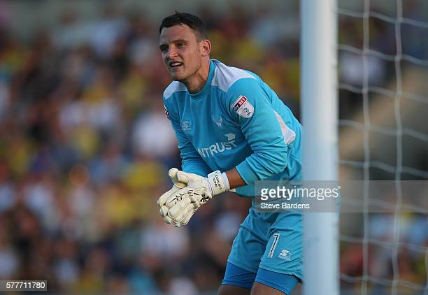 Simon Eastwood of Oxford United during a preseason friendly between Oxford United and Leicester City at Kassam Stadium on July 19 2016 in Oxford...