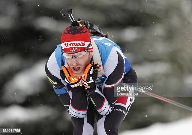 Simon Eder of Austria competes during the 10 km men's Sprint on January 5 2017 in Oberhof Germany