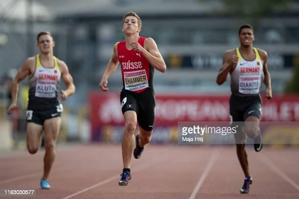 Simon Ehammer of Switzerland competes during 400m of Decathlon Men on July 19, 2019 in Boras, Sweden.