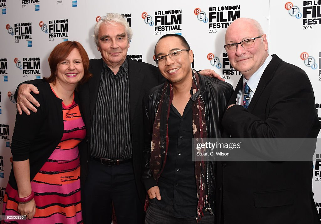Simon Field, Keith Griffiths, Apichatpong Weerasethakul and Clare Stewart attend the 'Cemetery Of Splendour' screening during the BFI London Film Festival at Vue Leicester Square on October 13, 2015 in London, England.