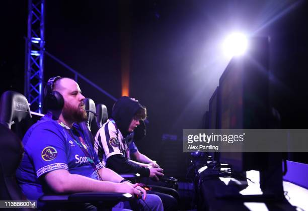 Simon 'Fizzy_EFC' Duxbury of Everton during day one of the 2019 ePremier League Finals at Gfinity Arena on March 28 2019 in London England