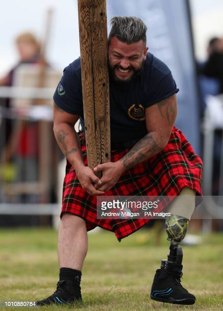 Simon Flores from Manchester during the Mey Highland amp Cultural Games at the John O'Groats Showground in Caithness