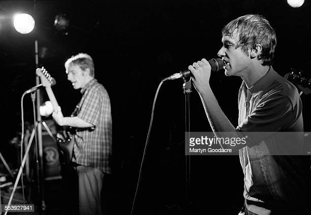 Simon Fowler and Steve Cradock of Ocean Colour Scene in rehearsal United Kingdom 1996