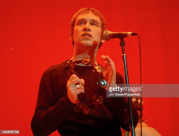 Simon Fowler of Ocean Colour Scene performing on stage at Wembley Arena in London on the 20th February 1998
