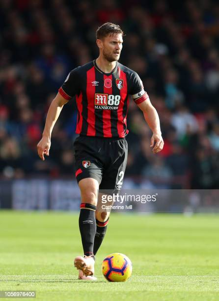 Simon Francis of AFC Bournemouth during the Premier League match between AFC Bournemouth and Manchester United at Vitality Stadium on November 3 2018...